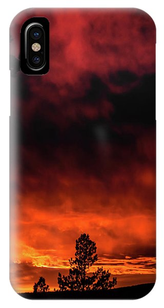 IPhone Case featuring the photograph Fiery Sky by Jason Coward