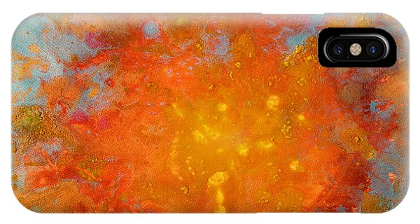 Fiery Sunset Abstract Painting IPhone Case