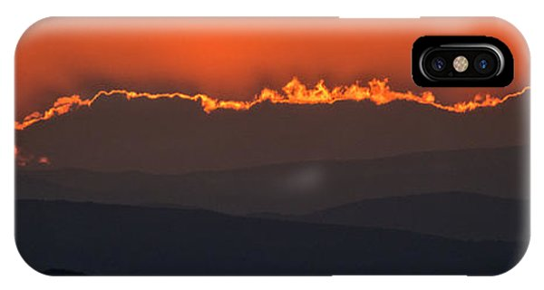 Fiery Sunset In The Luberon IPhone Case
