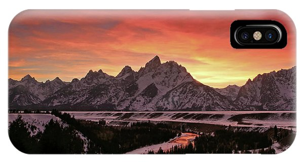Fiery Sunset On Snake River IPhone Case