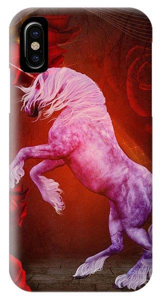 Fiery Unicorn Fantasy IPhone Case