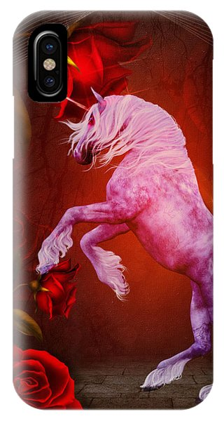 Fiery Unicorn Fantasy IPhone Case