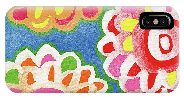 For iPhone Case - Fiesta Floral 3- Art By Linda Woods by Linda Woods