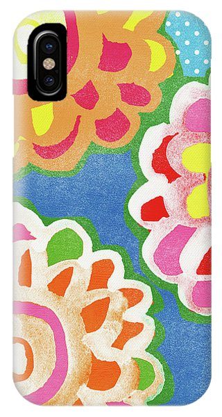 Wood iPhone Case - Fiesta Floral 3- Art By Linda Woods by Linda Woods