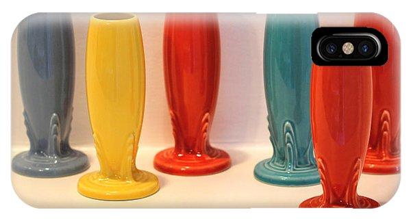 Fiestaware Bud Vases IPhone Case