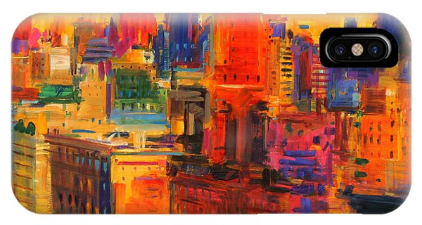 Manhattan Skyline iPhone Case - Fifth And Madison by Peter Graham