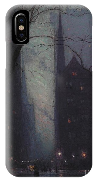 Harrison iPhone Case - Fifth Avenue At Twilight by Lowell Birge Harrison