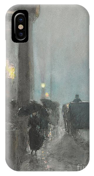 Avenue iPhone Case - Fifth Avenue, Evening by Childe Hassam