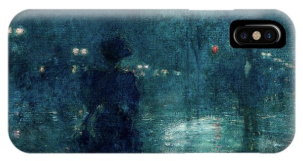 Avenue iPhone Case - Fifth Avenue Nocturne, 1895 by Childe Hassam