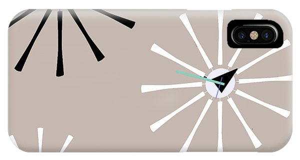 Clock iPhone Case - Fifties Kitchen V by Mindy Sommers