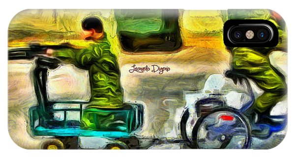 Having Fun iPhone Case - Fighters At War - Da by Leonardo Digenio