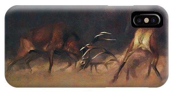 Fighting Stags I. IPhone Case