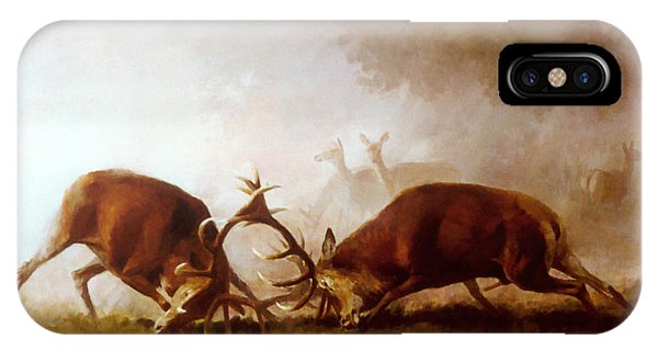 Fighting Stags II. IPhone Case