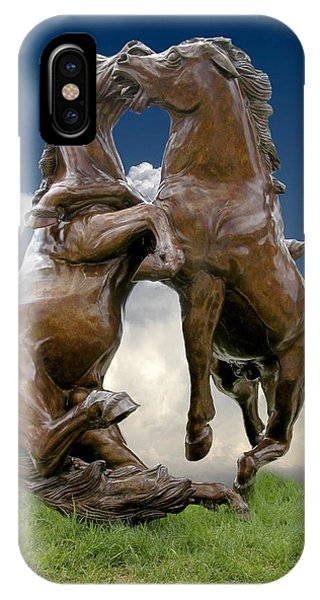 Fighting Stallions IPhone Case