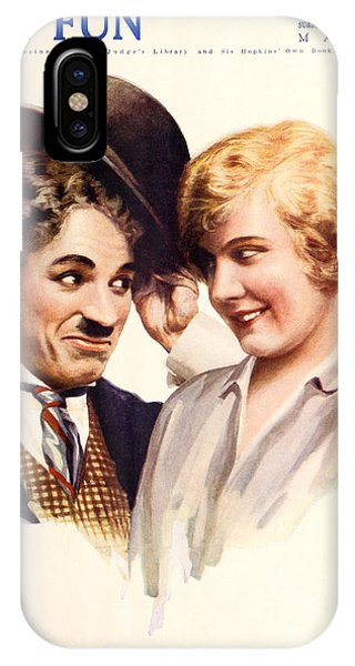 Film Fun Classic Comedy Magazine Featuring Charlie Chaplin And Girl 1916 IPhone Case