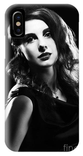 Film Noir Woman IPhone Case