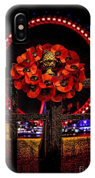 London Eye iPhone Case - Final Salute by Jasna Buncic