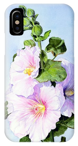 Finally Hollyhocks IPhone Case