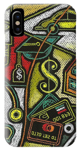 Debts iPhone Case - Finance And Medical Career by Leon Zernitsky