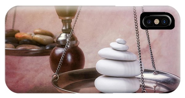 Well Being iPhone Case - Find Your Balance by Tom Mc Nemar