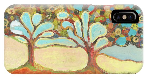 Abstract Landscape iPhone Case - Finding Strength Together by Jennifer Lommers