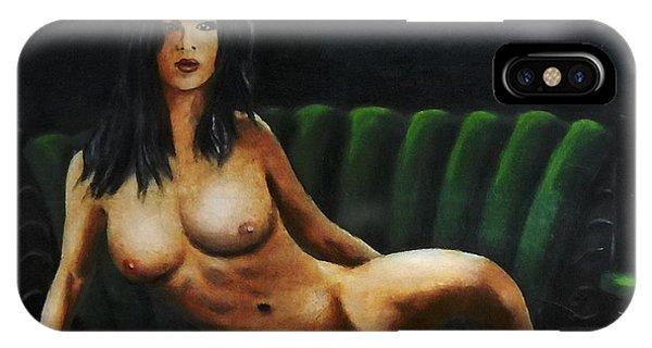 Fine Art Female Nude Sara Seated 2011 IPhone Case