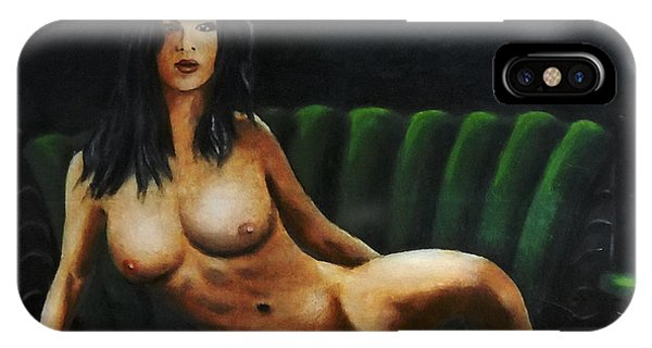 Fine Art Female Nude Sara Seated 2011 IPhone Case