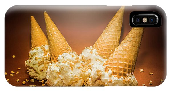 Gallery Wall iPhone Case - Fine Art Ice Cream Cone Spill by Jorgo Photography - Wall Art Gallery