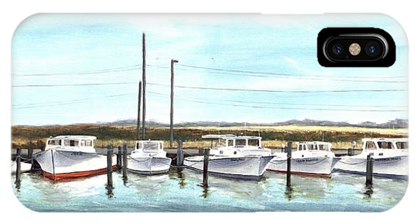 Fine Art Workboats Kent Island Chesapeak Maryland Original Oil Painting IPhone Case