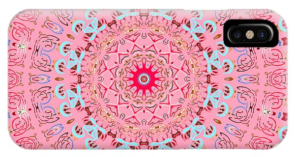 IPhone Case featuring the digital art Fine China Kaleidoscope by Joy McKenzie