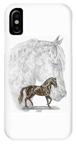 Fine Steps - Paso Fino Horse Print Color Tinted IPhone Case