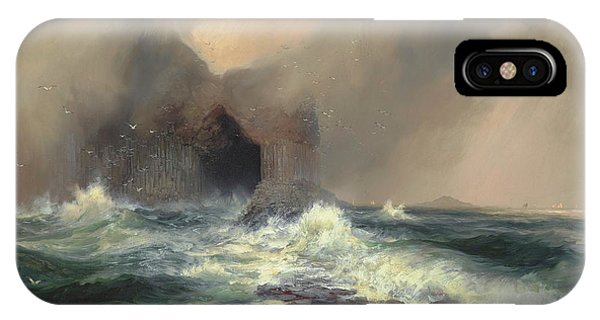 Northern Scotland iPhone Case - Fingal S Cave, Scotland, Island Of Staffa by Thomas Moran