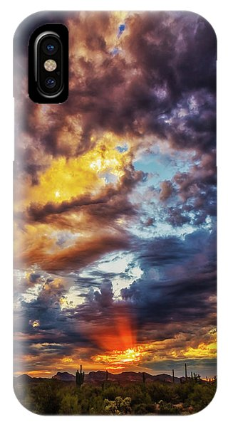 Finger Painted Sunset IPhone Case