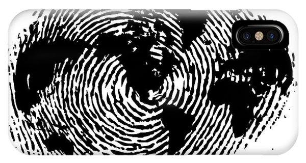 fingerprint 20X30 IPhone Case