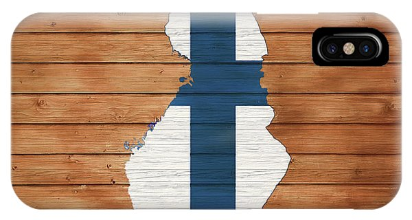 Traveler iPhone Case - Finland Rustic Map On Wood by Dan Sproul