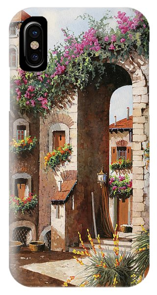 Arched iPhone Case - Fiori Gialli Sotto L'arco by Guido Borelli