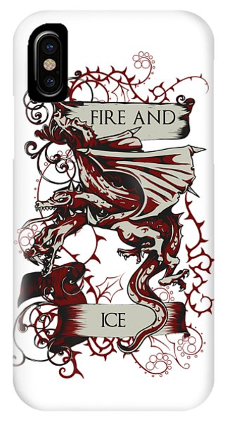 IPhone Case featuring the digital art Fire And Ice by Christopher Meade