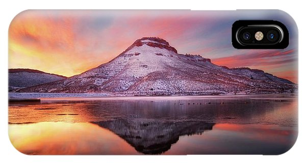 Fire And Ice - Flatiron Reservoir, Loveland Colorado IPhone Case