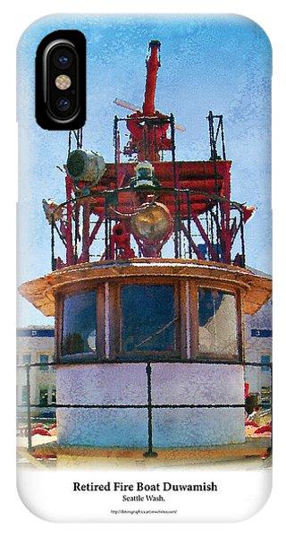 Fire Boat IPhone Case