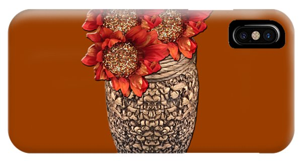 Fire Brick Flora Vase IPhone Case