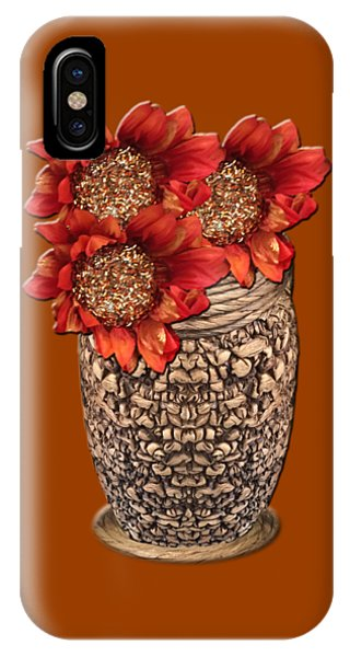 Fire Brick Flora Vase IPhone Case
