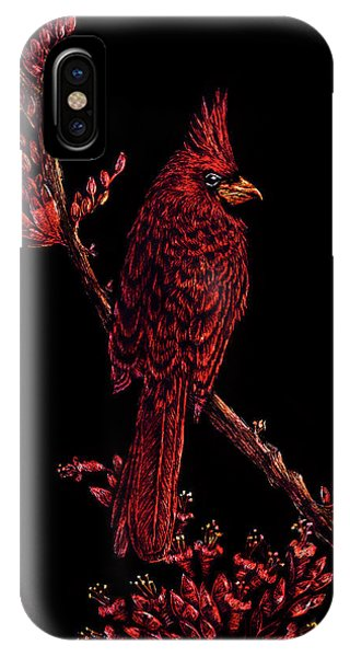 Fire Cardinal IPhone Case