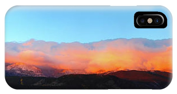 IPhone Case featuring the photograph Fire Clouds - Panorama by Shane Bechler