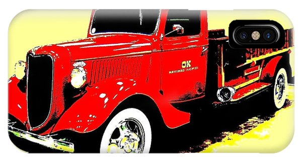 Ok iPhone Case - Fire Engine Ok by Will Borden