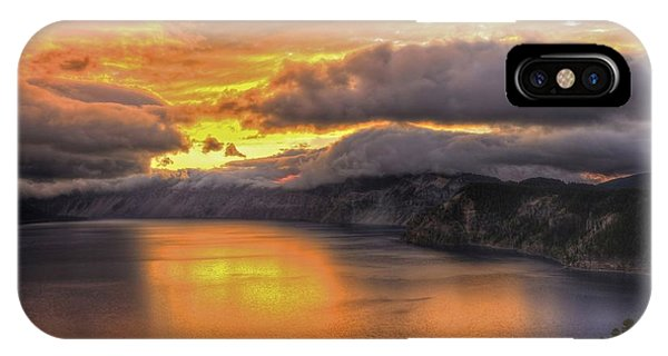 Fire In The Lake #1 IPhone Case