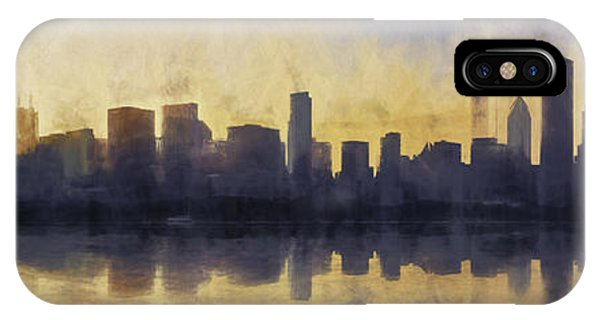 Chicago iPhone Case - Fire In The Sky Chicago At Sunset by Scott Norris