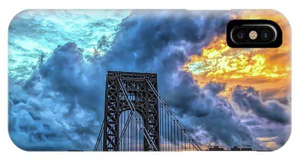 IPhone Case featuring the photograph Fire In The Sky by Theodore Jones