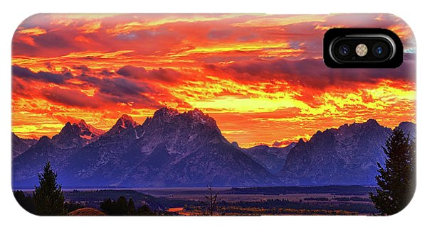 Fire In The Teton Sky IPhone Case