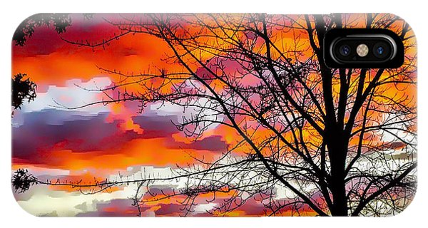 Fire Inthe Sky IPhone Case