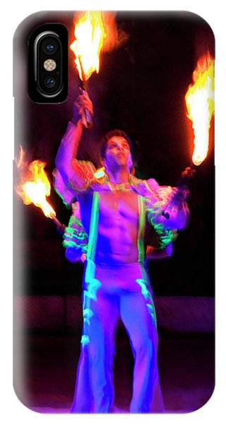 iPhone Case - Fire Juggler by Ron Morecraft